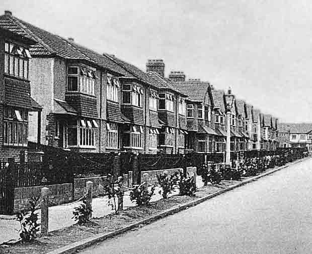 suburban 1930s house