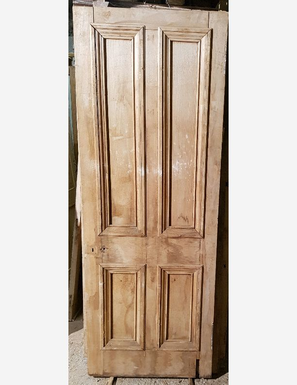 1219 - Grand Victorian 4 panel front door with Bolection moulding