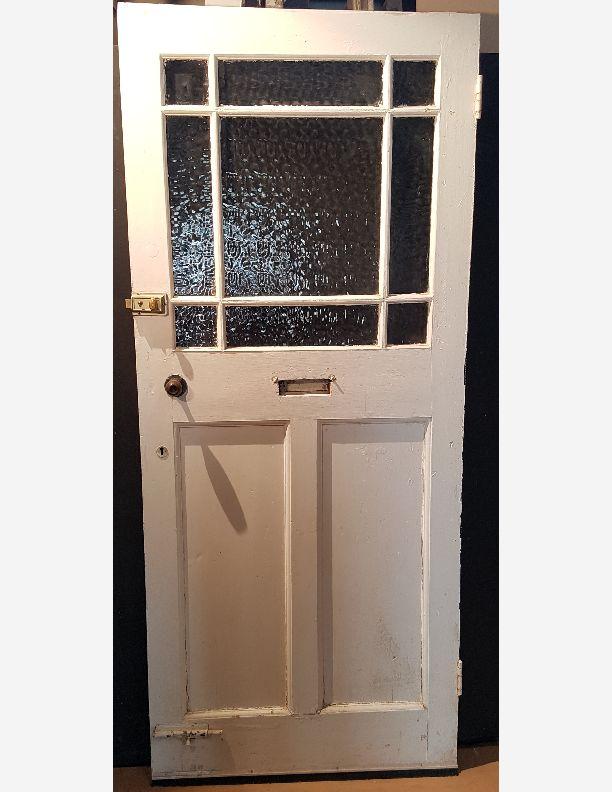 1995 - 1920 to 1930 9 pane glass panel over 2 vertical front door