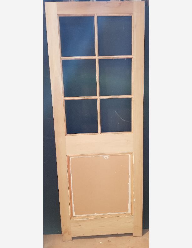 2090 - New Edwardian style internal  part-glazed door