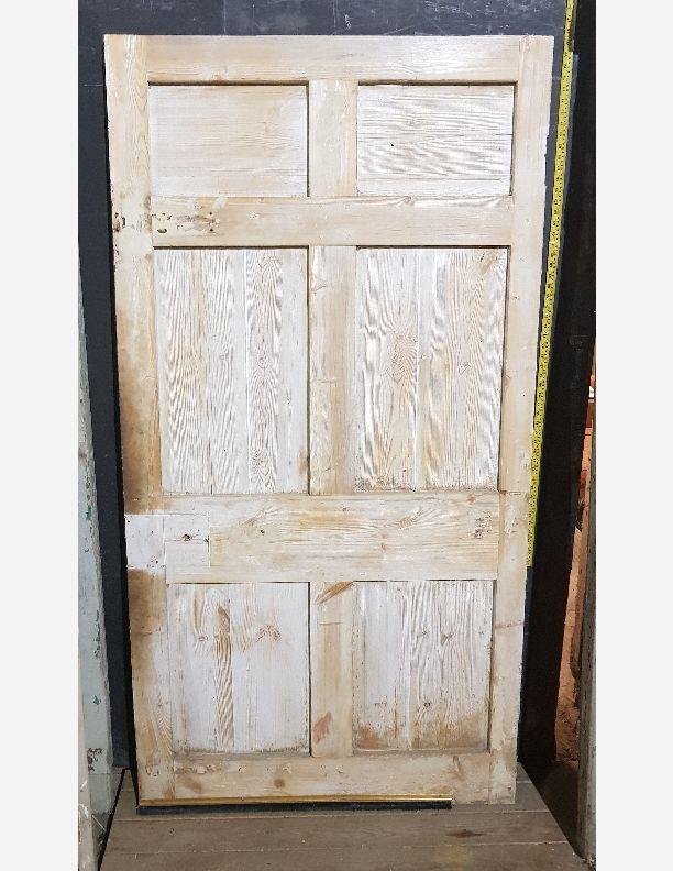 2195 - Georgian original butt n bead 6 panel front or back door
