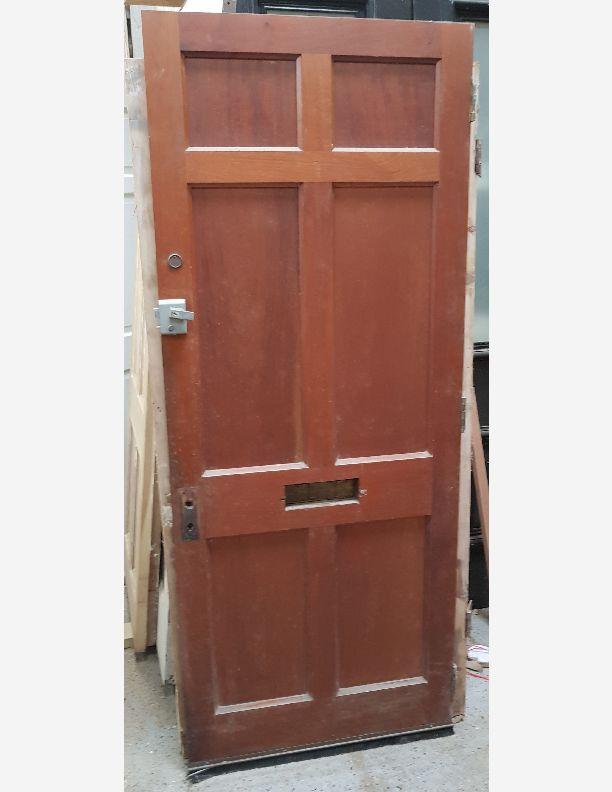 2203 - Hardwood raised and fielded 6 panel Georgian front door