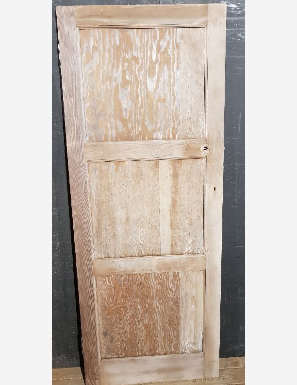 2256 - 1 over 1 over 1, 1950 circa 1960 stripped pine door