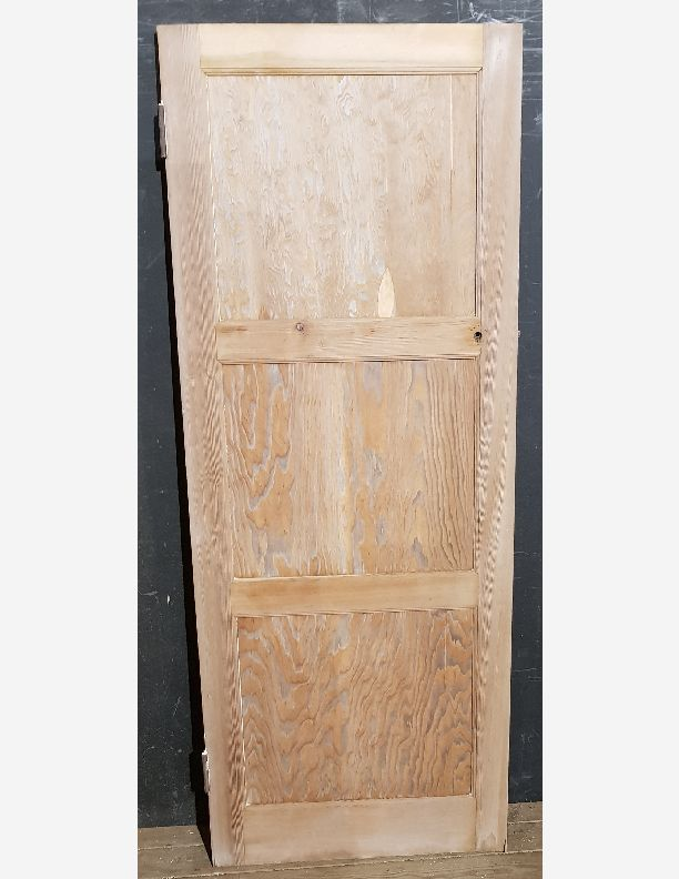 2248 - Pine 3 panel retro 50, 60s ply panel stripped door