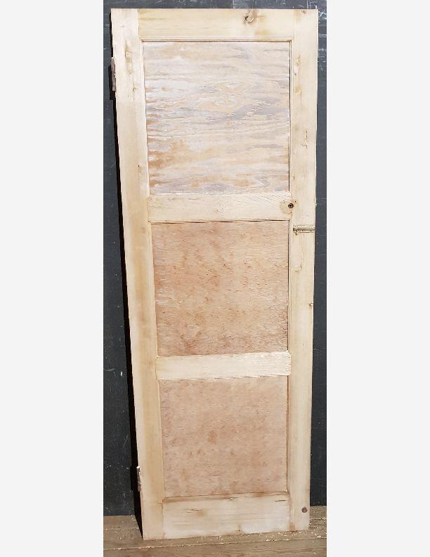 2246 - Pine 3 panel retro 50, 60s, ply panel stripped door