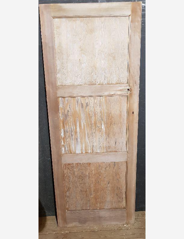 2245 - Pine 3 panel retro 50, 60s ply panel stripped door