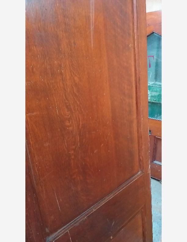 2375 - Solid oak panel door matching room dividers ref 2374