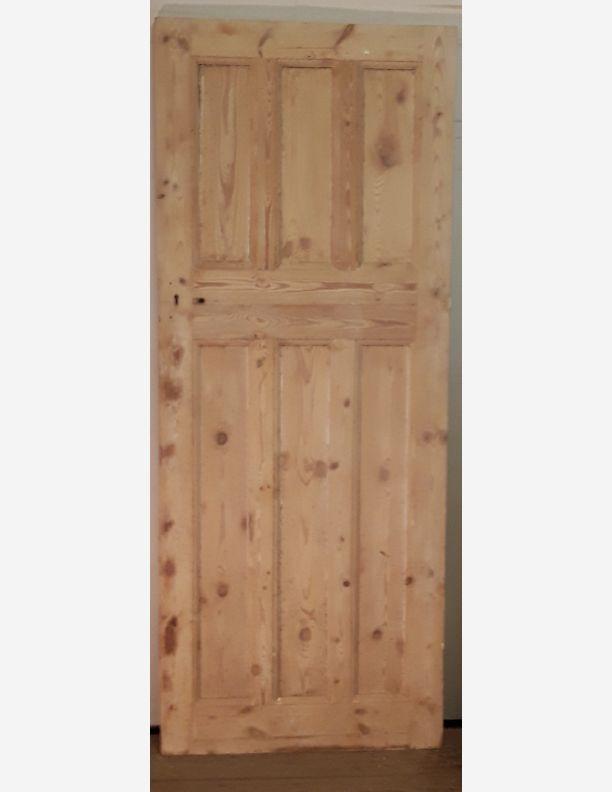 2382 - 3 over 3 pine panel door small door