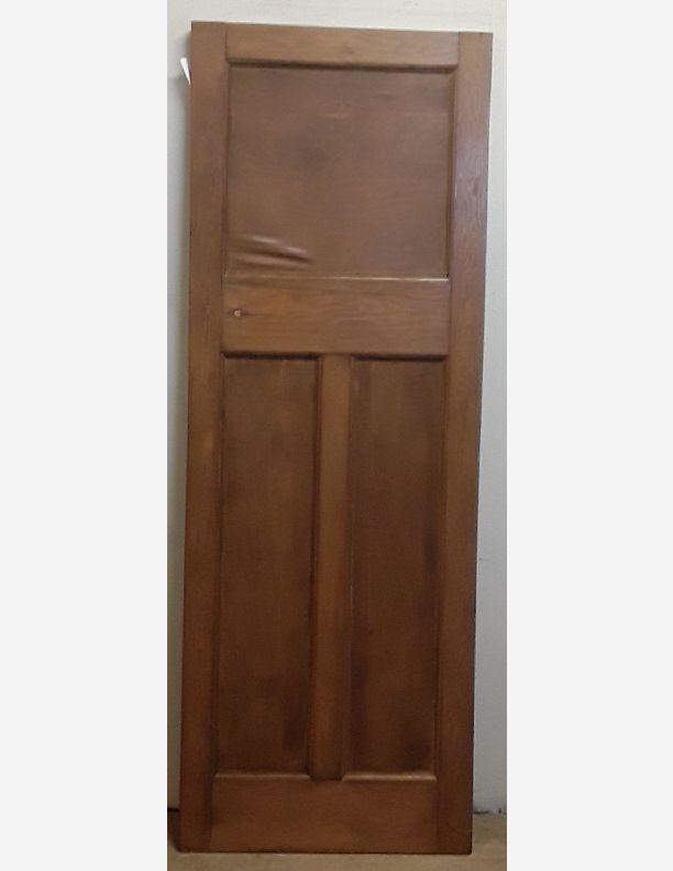 2393 - 1920s 1 over 2 panel waxed door