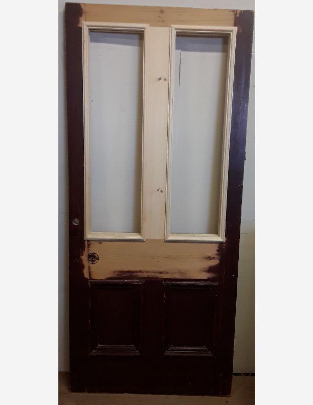 2204 - Hardwood raised and fielded 6 panel Georgian front door