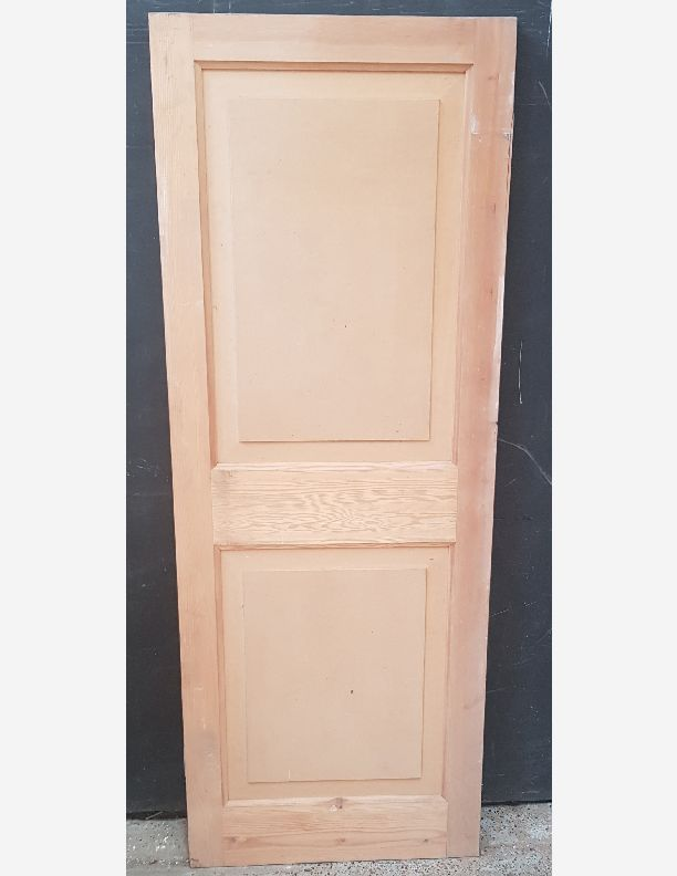 2596 - New vintage raised and fielded pine door with mdf panel