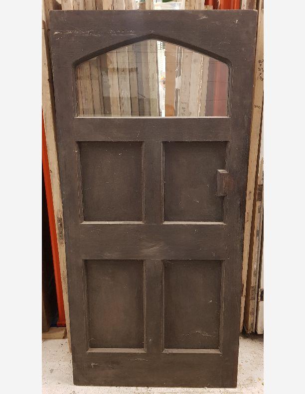 2692 - Period cottage solid oak front door. Very heavy