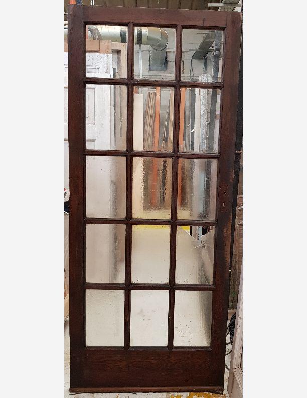 2903 - Solid Oak external or internal period door with 15 panels