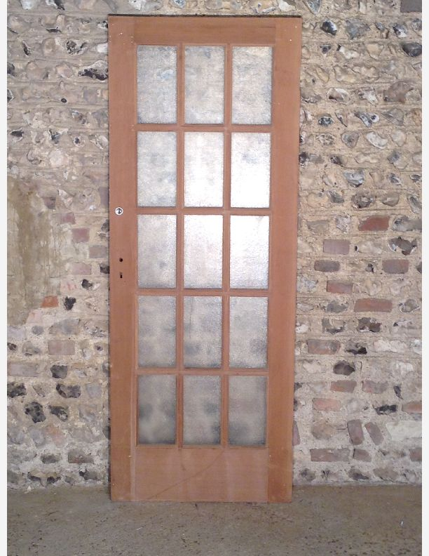 347 - 15 paned internal door with original glass