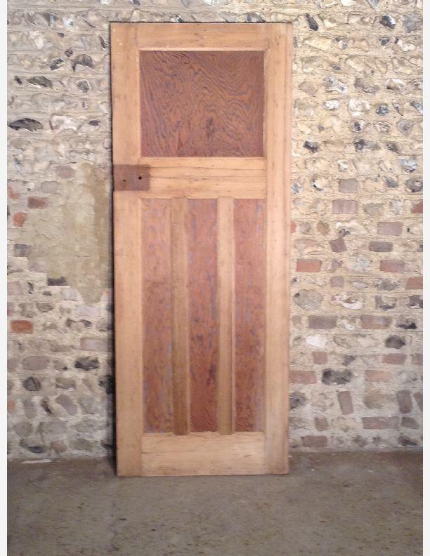 Q551 1930s 1 over 3 panel internal door with integral for 1 over 3 panel door
