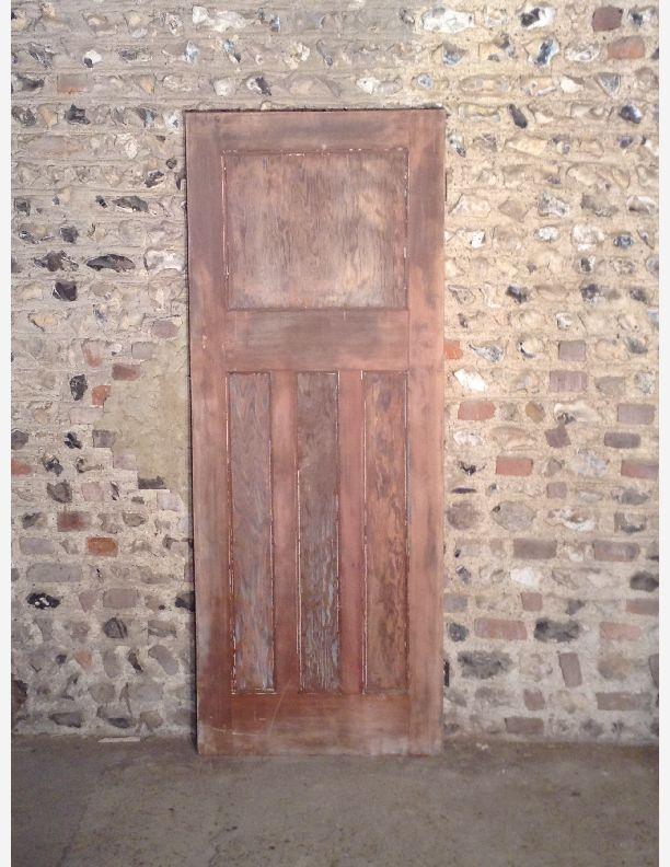 Q553 1930s 1 over 3 panel internal door with integral for 1 over 3 panel door