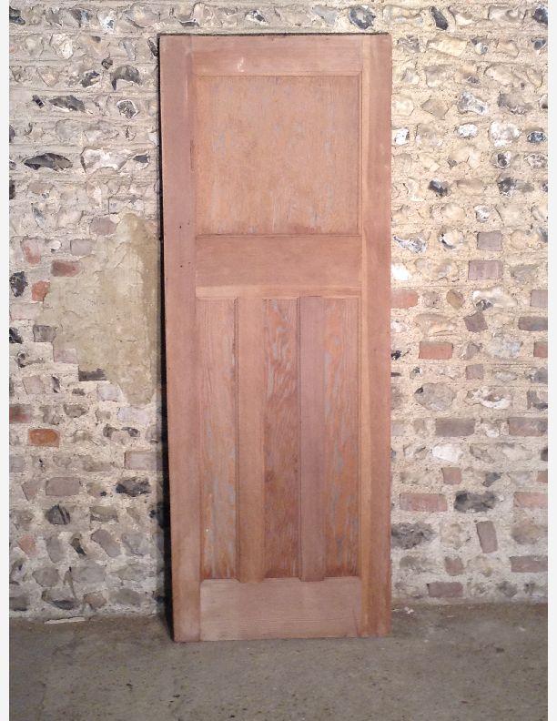 Q557 1930s 1 over 3 panel internal door with integral for 1 over 3 panel door