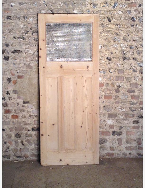 Q562 1930s glazed 1 over 3 panel internal door with for 1 over 3 panel door