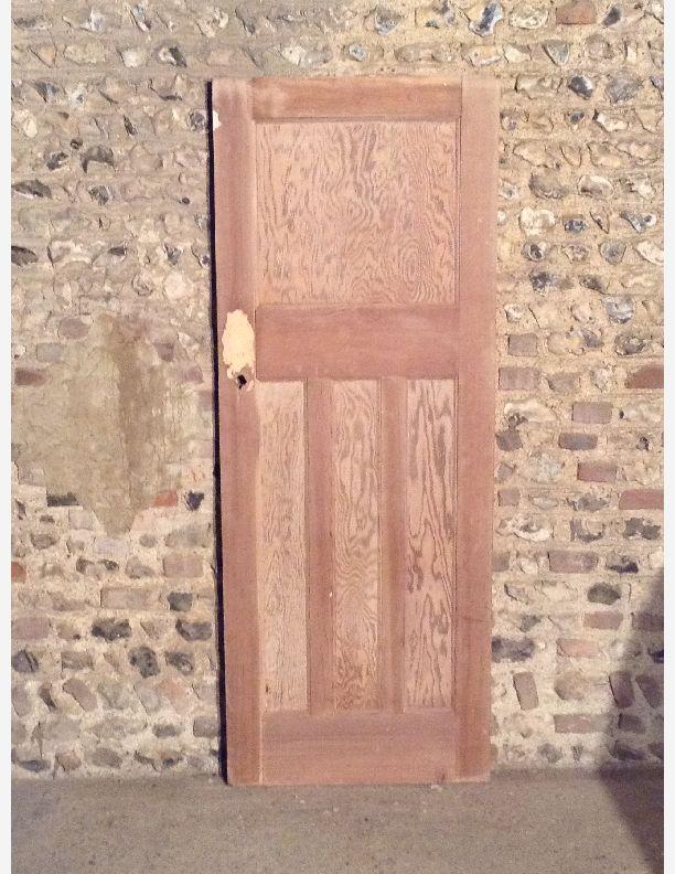 R585 1930s 1 over 3 panel internal door with integral for 1 over 3 panel door