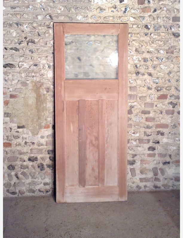 R593 1930s glazed 1 over 3 panel internal door with for 1 over 3 panel door