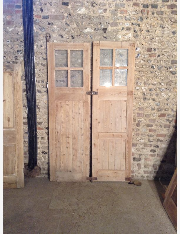 645 - Pair of double doors  sliding or hinged