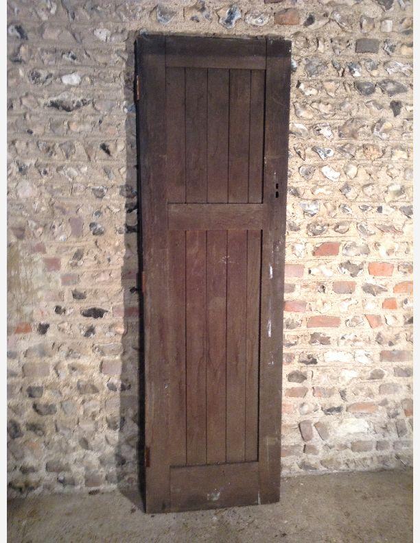 828 - framed ledge and brace door oak