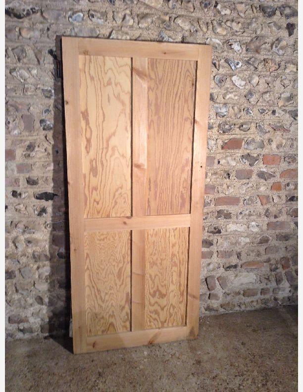 849 - 4 panel shaker stripped pine door