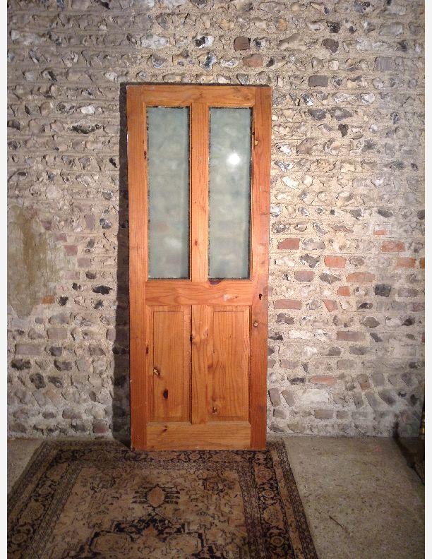 Reclaimed 1 2 Glazed Victorian Style Internal Door By