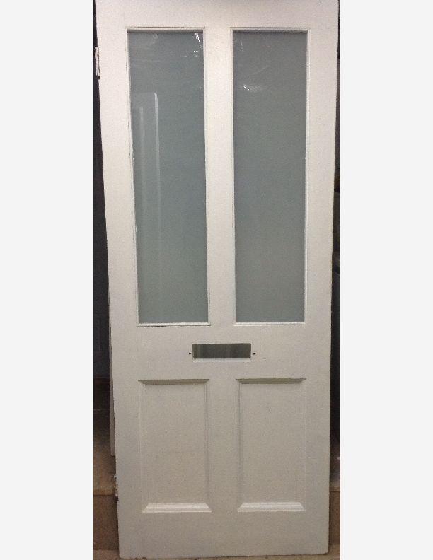 1047 - Painted half glazed Victorian front door