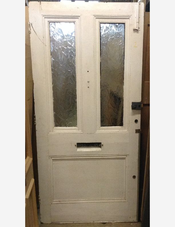 victorian half glazed front door by historic doors
