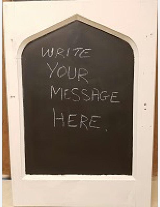 1084 - Gothic arched blackboard