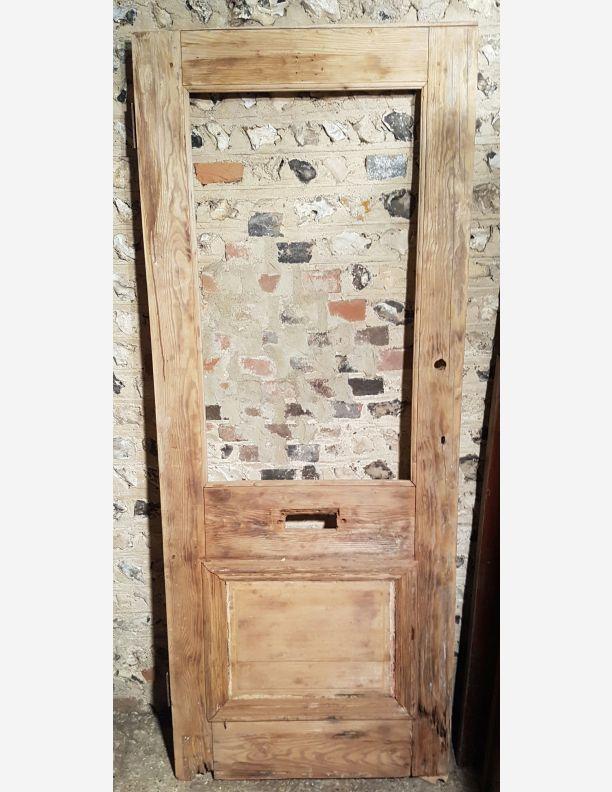 Bargain Victorian Stripped Pine Front Door