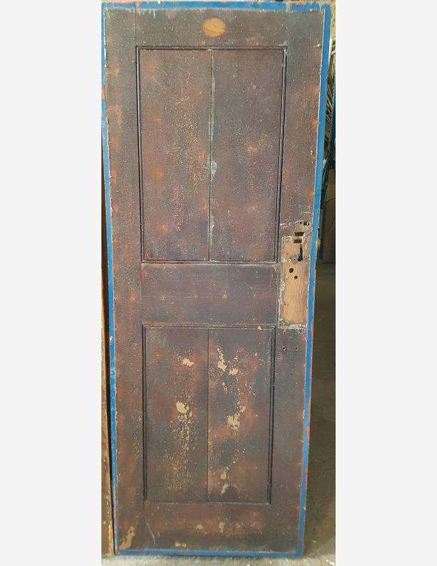 1128 - Shoreham Victorian public loo pitch pine doors