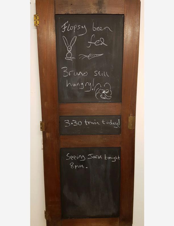 1163 - Mahogany upcycled cupboard door into a blackboard