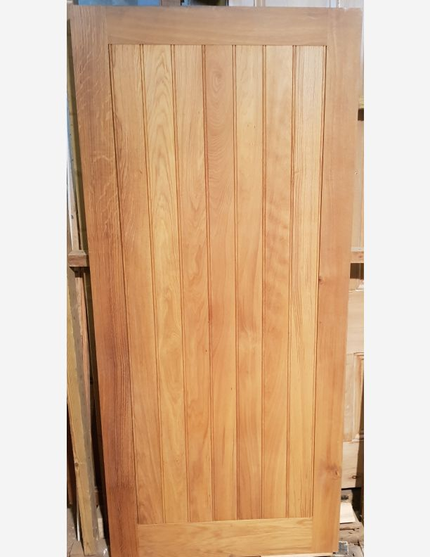 2027 - Solid Oak External Door with Button Bead