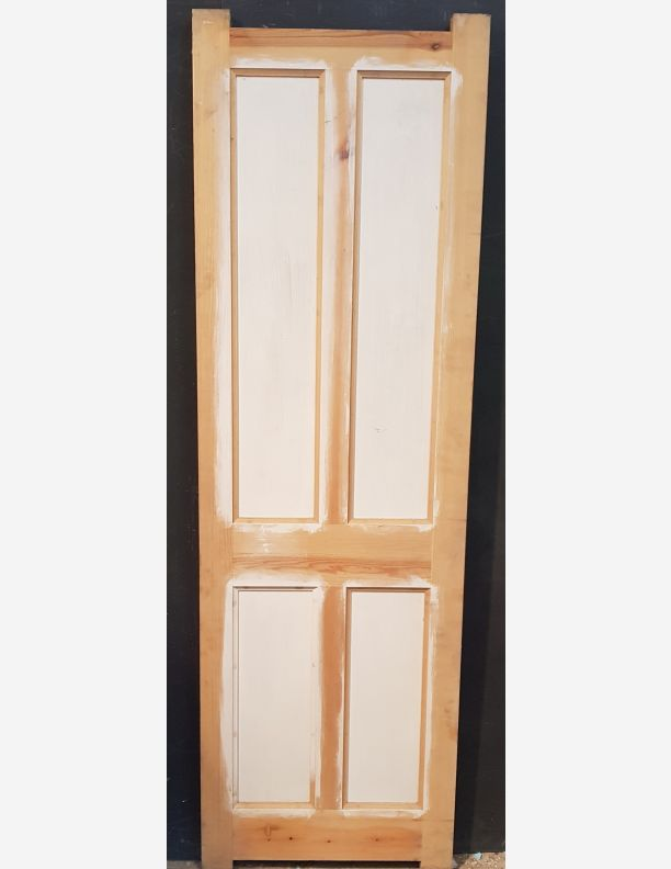 2046 - 4 panel door part primed for painting