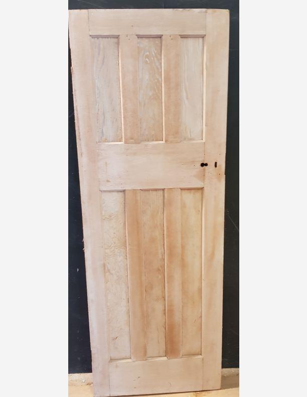 2061 - 3 over 3 panel Douglas Fir stripped pine reclaimed door