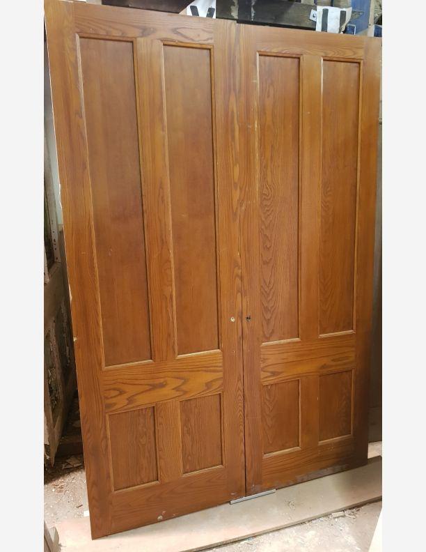 2064 - Pair of 4 panel reclaimed oak room dividers