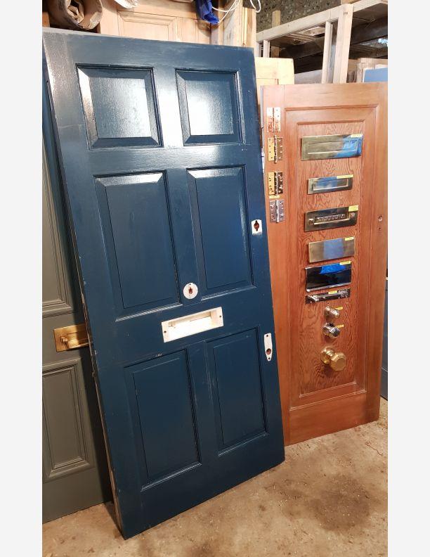 2091 - Substantial 6 panel Georgian-style Hardwood Front Door