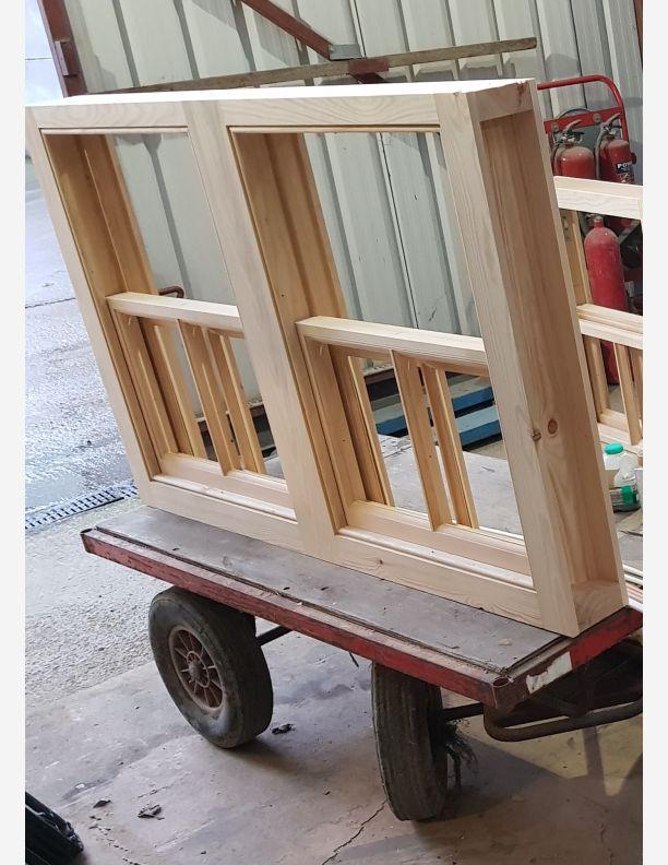 2241 - Wooden Double Box Sash Windows