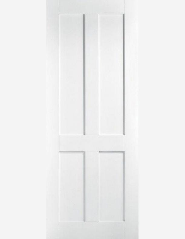 2266 - London Shaker style painted 4 panel door