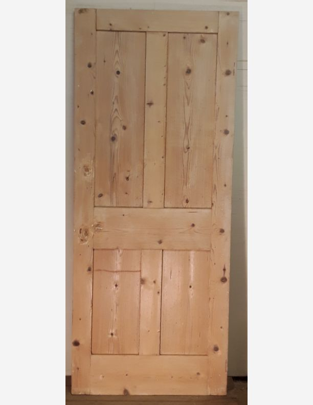 2358 - Victorian  period 2 over 2 panel stripped pine door