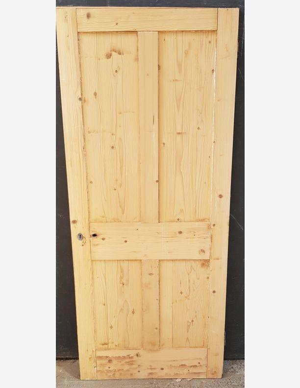 2564 - Yellow pine original 4 panel Victorian 4 panel door