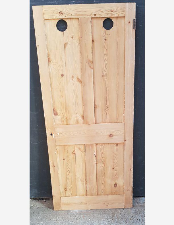 2567 - Yellow pine 4 panel Victorian shaker parlour door