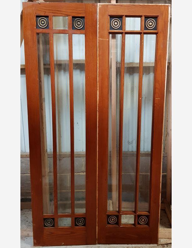 2617 - Bristol casement design double solid oak doors