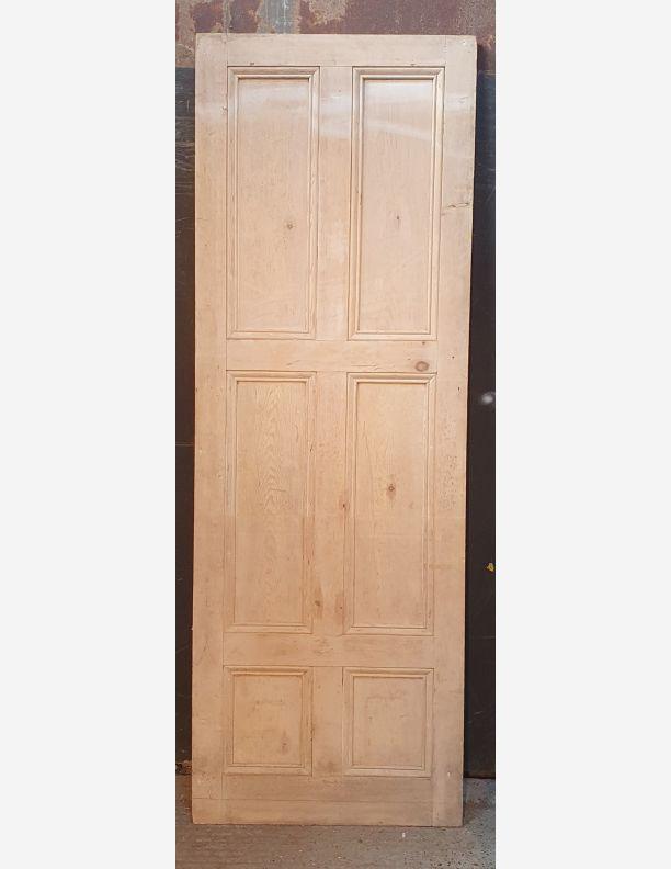 2671 - Tall 6 panel Georgian stripped pine door