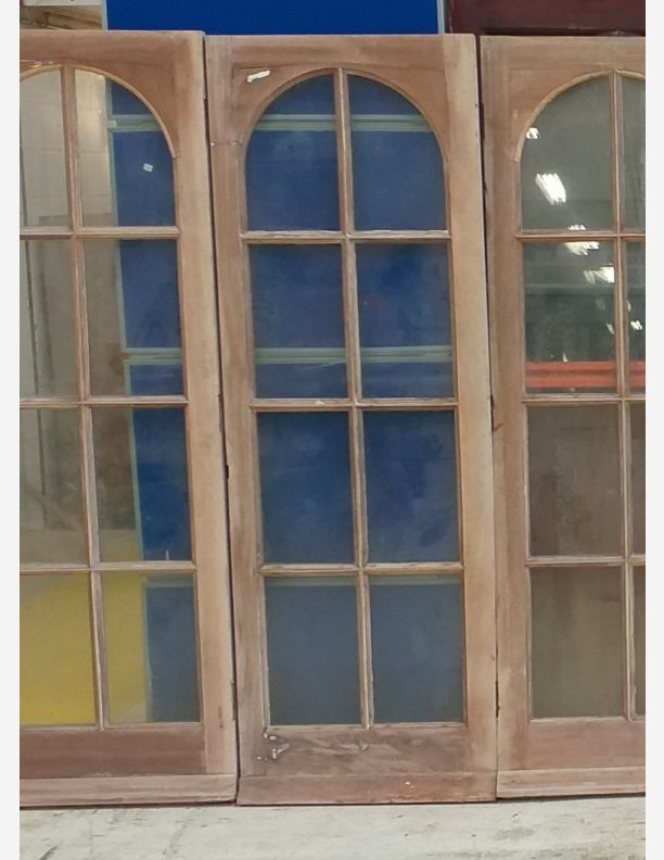 2757 - Set of 7 matching double glazed hardwood external doors