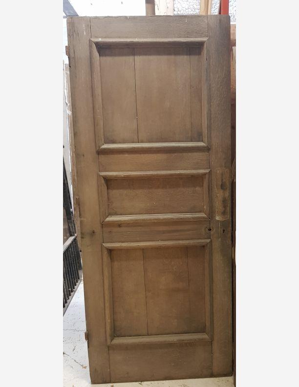 2790 - Solid Oak external or internal period door with 3 panels