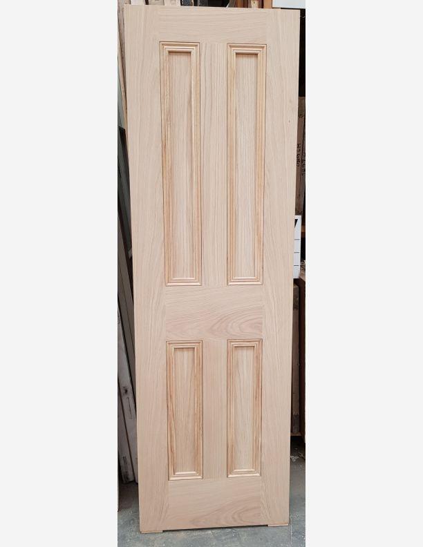 2911 - 4 panel period style beaded oak veneer door