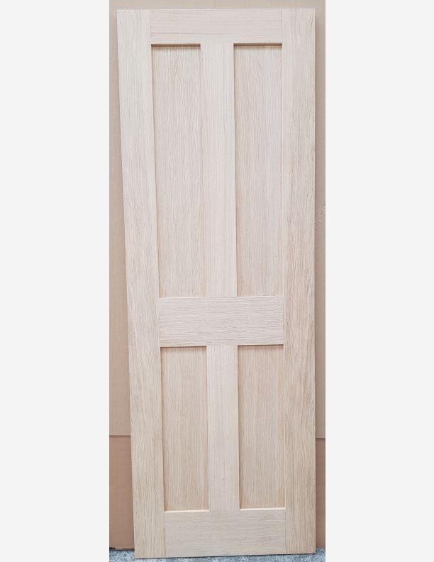 2915 - 4 panel shaker period white oak engineered door